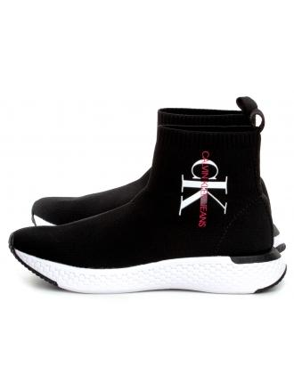 Sneakersy Damskie Calvin Klein Jeans Czarne ADALEA B4R1643 BLACK