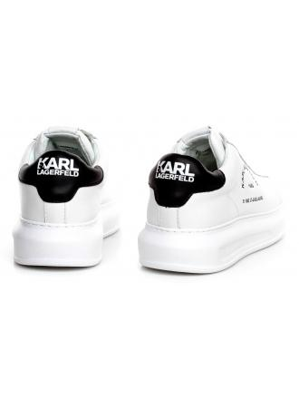 Sneakersy Męskie Karl Lagerfeld Biel Kapri Mens KL52538 011 White Lthr