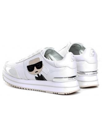 Sneakersy Damskie Karl Lagerfeld Biel Velocita II KL61930 311 White Lthr&Suede