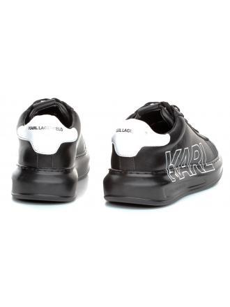 Sneakersy Męskie Karl Lagerfeld Czarne Kapri Mens KL52523 00X Black Lthr/ Mono