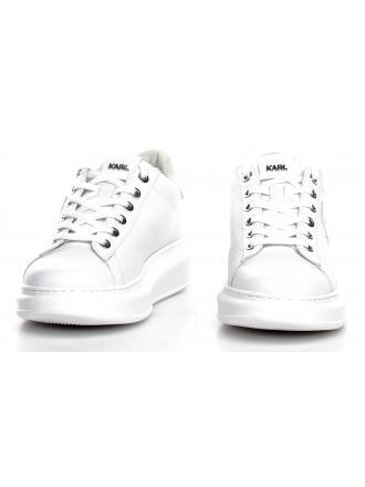 Sneakersy Damskie Karl Lagerfeld Biel Kapri KL62589 01L White Lthr w/Iridescent