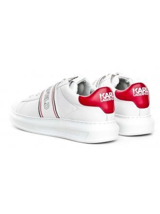 Sneakersy Męskie Karl Lagerfeld Biel Kapri Mens KL52535 011 White Lthr