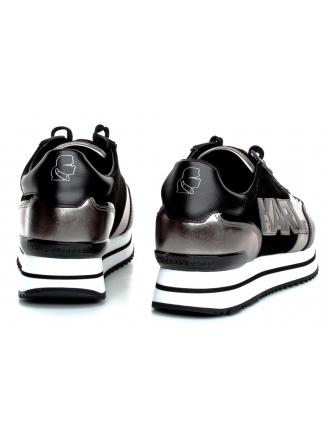 Sneakersy Damskie Karl Lagerfeld Czarne Velocita II KL61940 30S Black Lthr