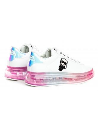 Sneakersy Damskie Karl Lagerfeld Biel KAPRI KUSHION KL62689 01I WHITE LTHR