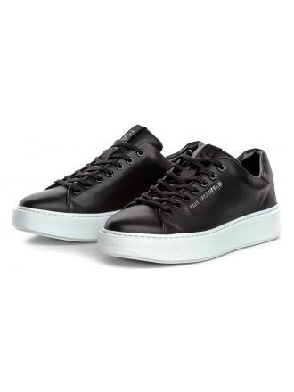 Sneakersy Męskie Karl Lagerfeld Czarne Maxi Kup Lo Lace II KL52220 000 Black Lthr