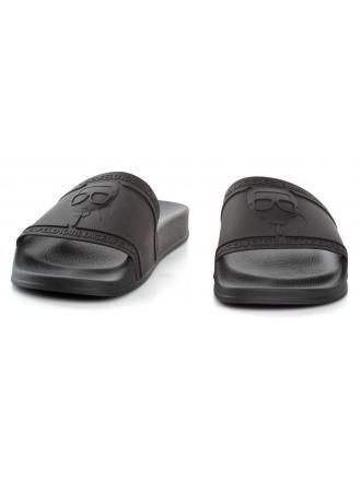 Klapki Męskie Karl Lagerfeld Czarne Kondo KL70009 V00 Black Rubber