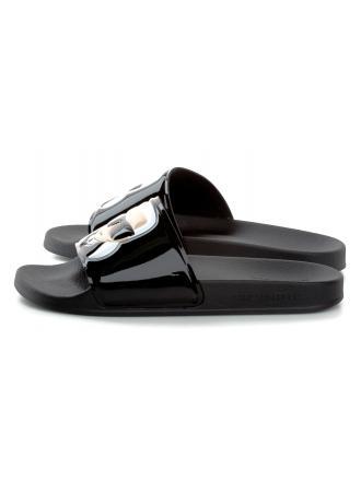 Klapki Damskie Karl Lagerfeld Czarne Kondo KL80906 V00 Black Rubber