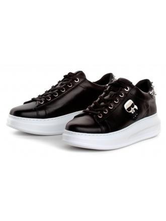 Sneakersy Damskie Karl Lagerfeld Czarne KAPRI KL62529 000 Black