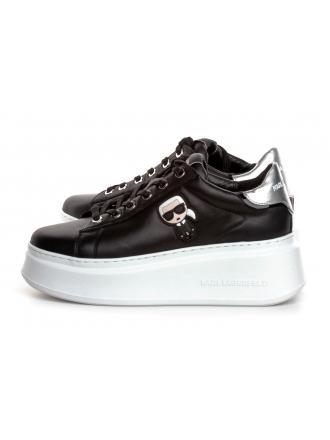 Sneakersy Damskie Karl Lagerfeld Czerń KL63530 000 Black Lthr