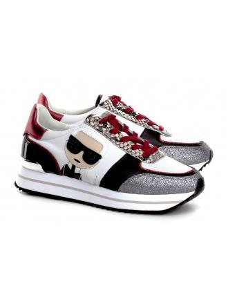 Sneakersy Damskie Karl Lagerfeld Biel Velocita II KL61934 31N White Lthr