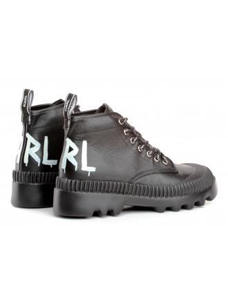 Trzewiki Damskie Karl Lagerfeld Czarne Trekka KL45230 000 Black