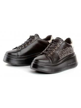 Sneakersy Damskie Karl Lagerfeld Czarne Anakapri KL63521 00G Black