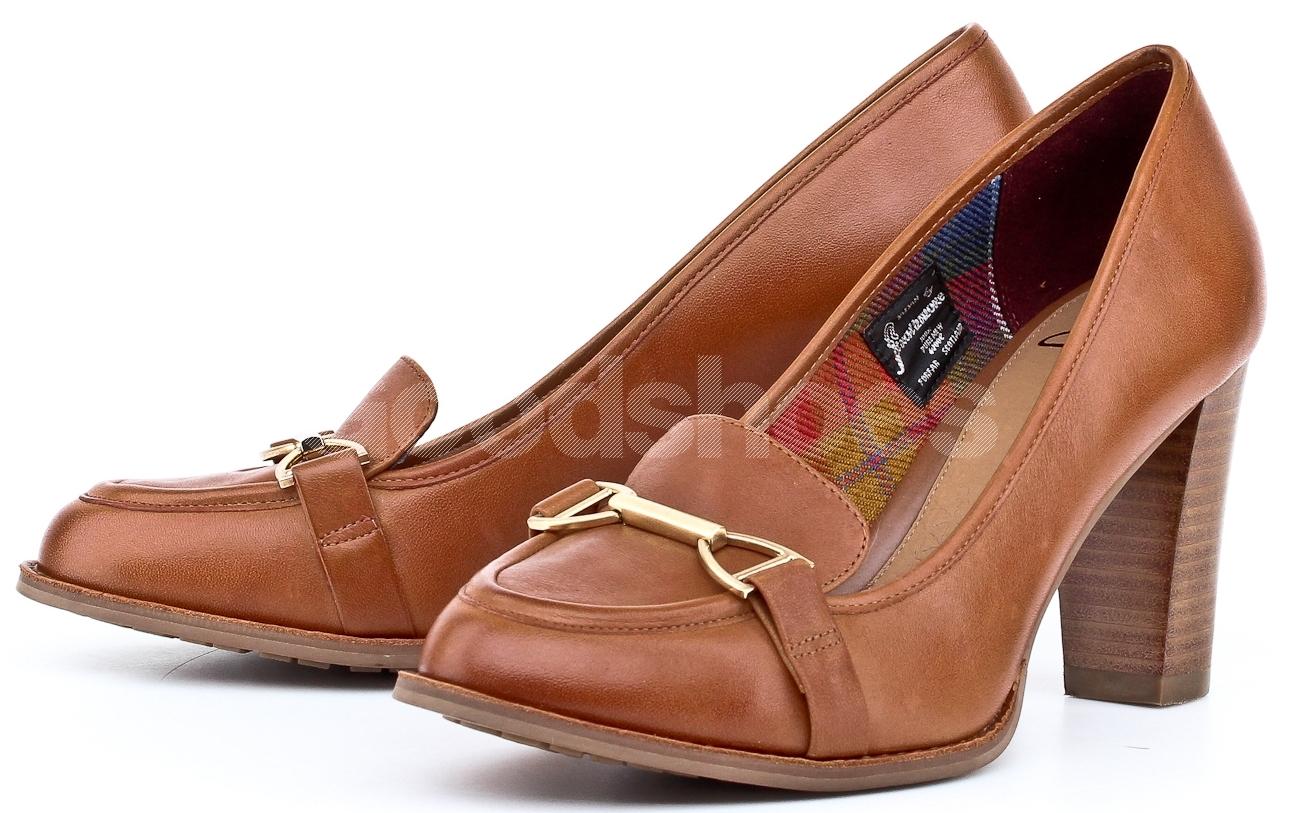 3cf02b51327f Czółenka Damskie Clarks Brązowe 23 203554724 - Goodshoes.pl