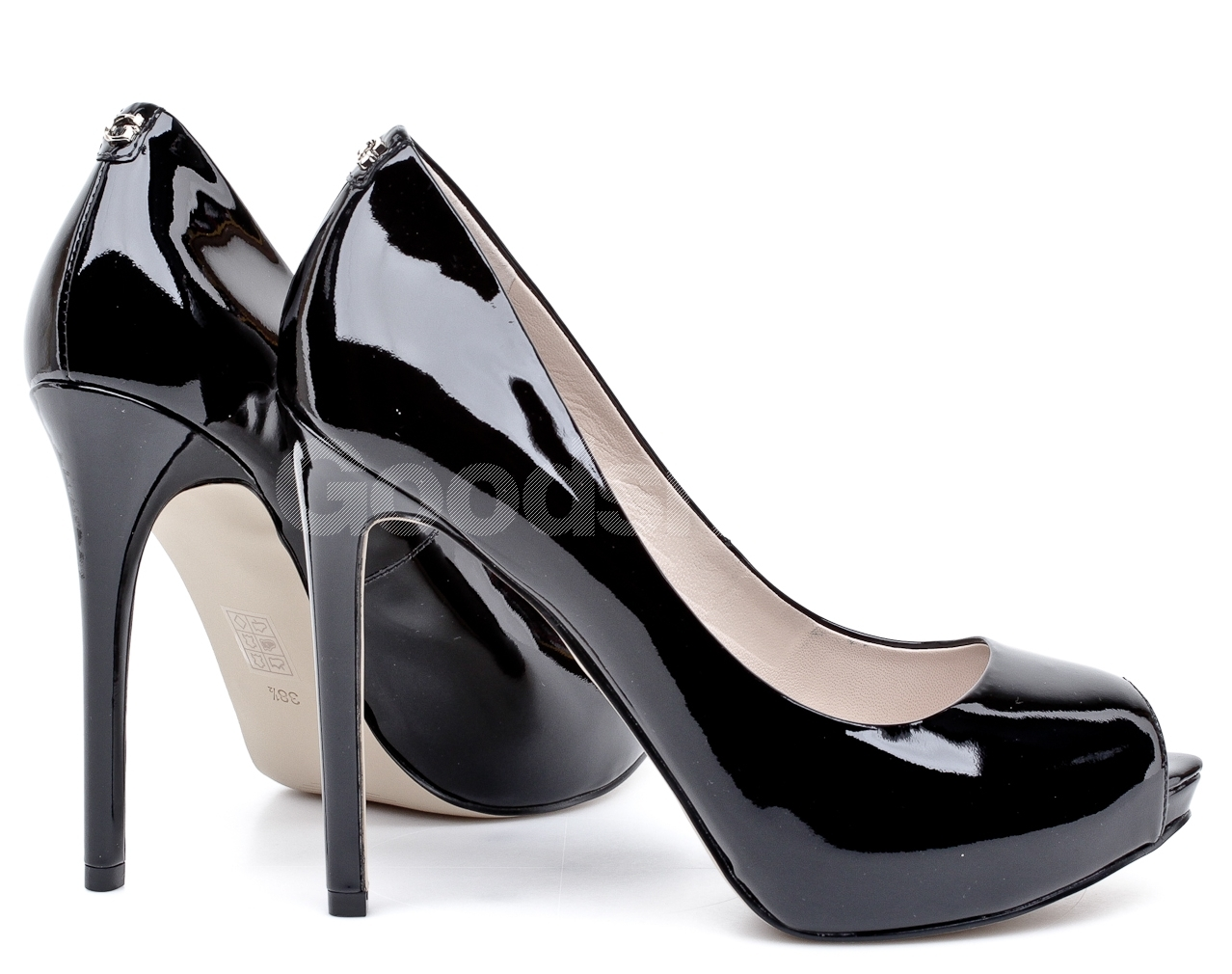 Guess Shoes Black Patent Leather