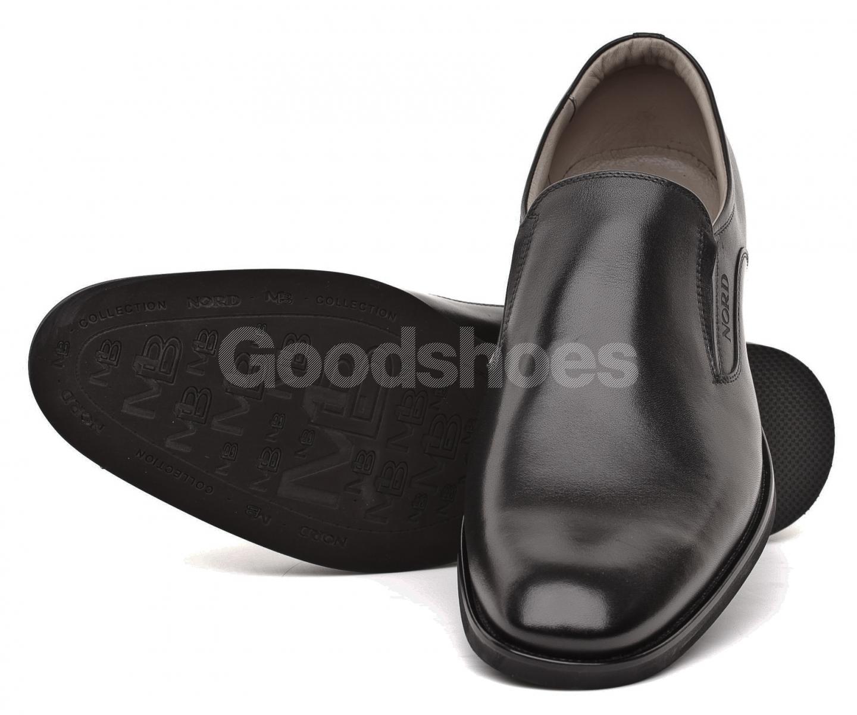 c7407951 ... Półbuty Pantofle Męskie NORD Kolekcja Maybach Czarne Skórzane 01 9339  B999