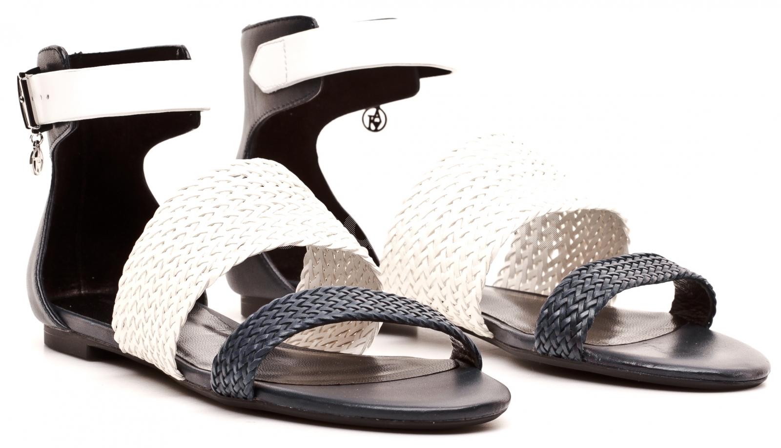 24f299051bde Armani Jeans Women s White  Blue Sandals 30 C5517 15 G8 BLUE ...