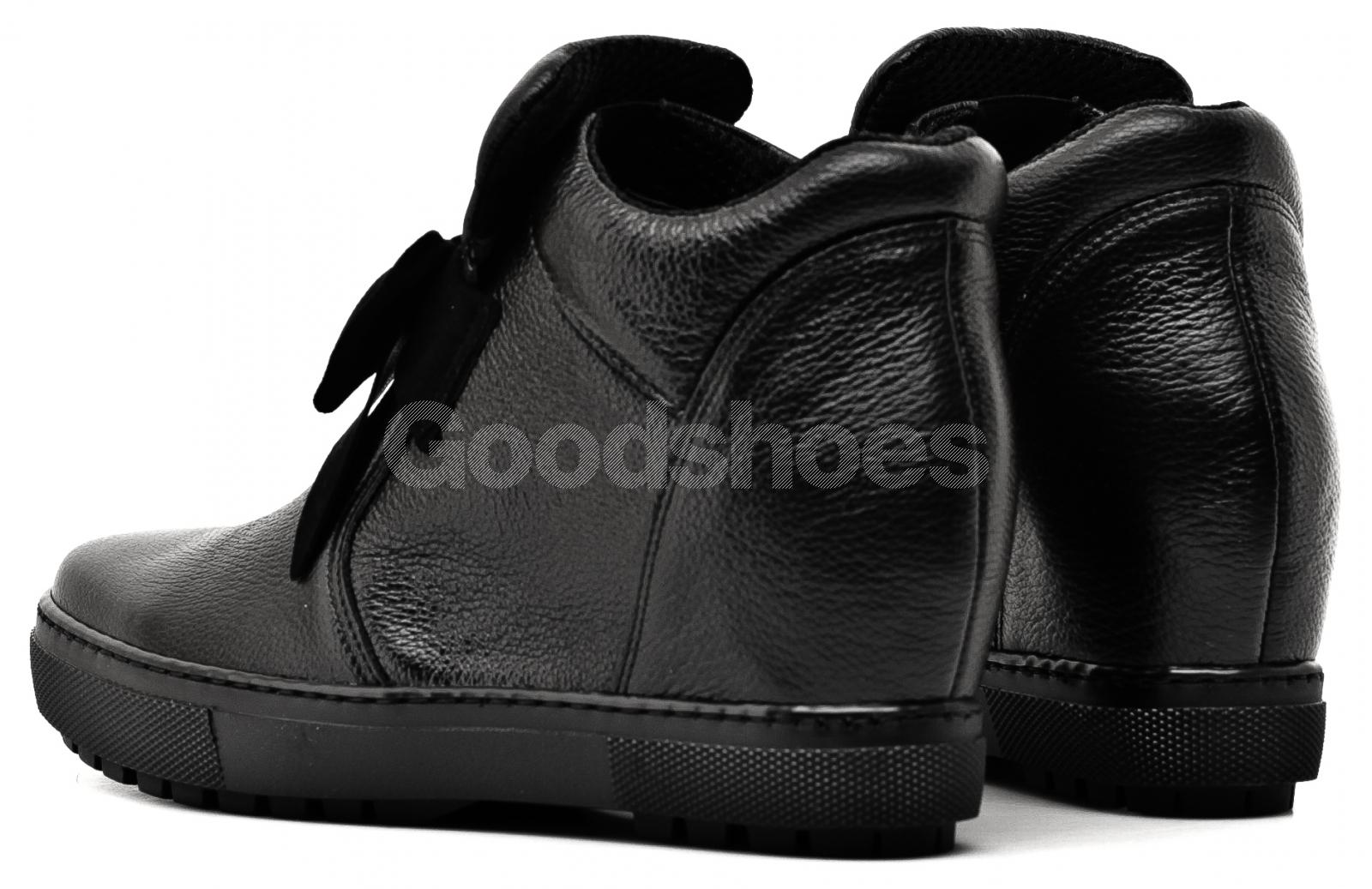 30c936bec7c3e ... Sneakersy Damskie Venezia Czarne Skórzane 04 1073I PEL NER ...