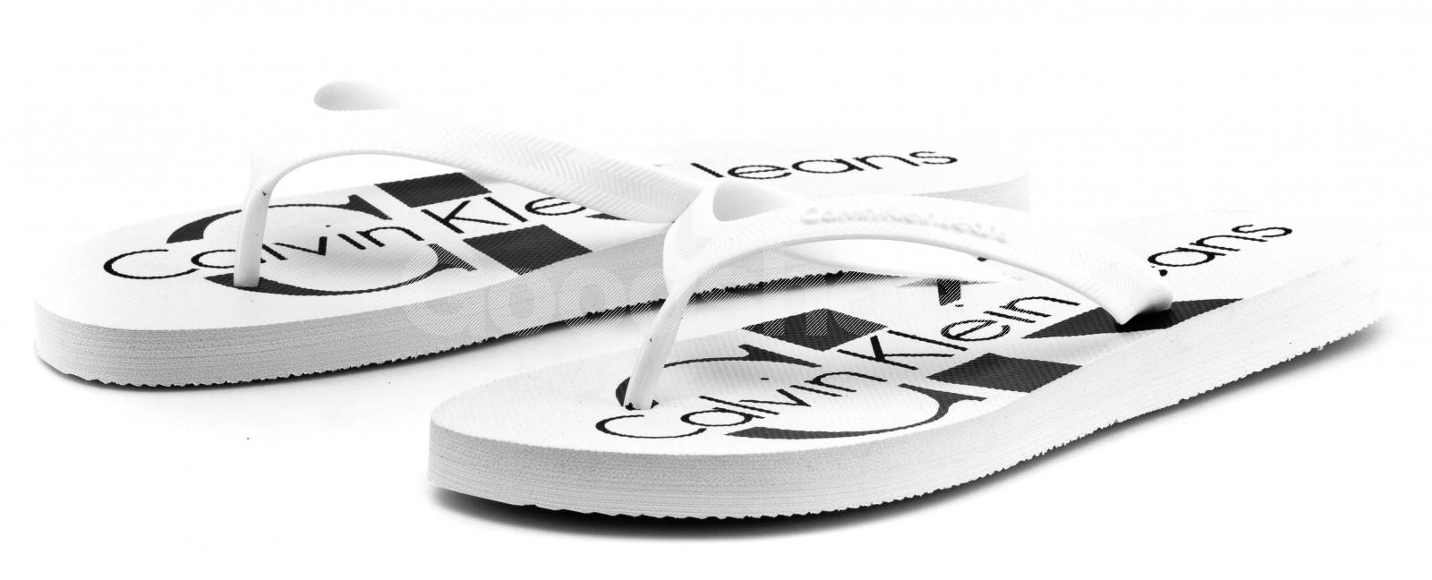 3b09689a48727 Japonki Męskie Calvin Klein Jeans Białe Dash S0063 White - Goodshoes.pl