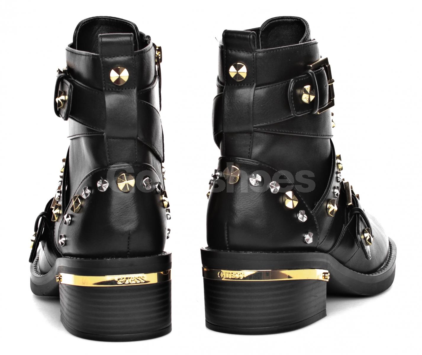dcff9830778f8 Botki Damskie GUESS Czarne FANCEY FLFNC4 ELE10 BLACK - Goodshoes.pl