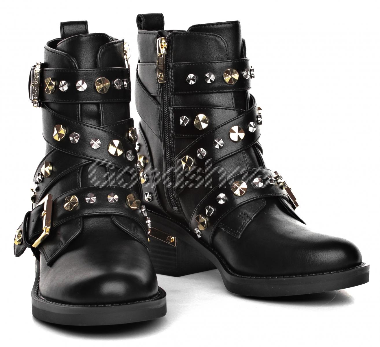 2d88af299fabf Botki Damskie GUESS Czarne FANCEY FLFNC4 ELE10 BLACK - Goodshoes.pl