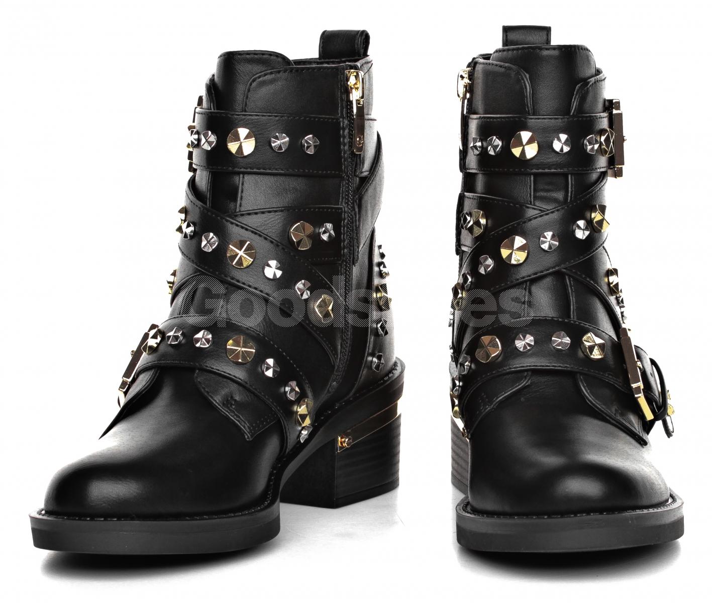 f97311117950a Botki Damskie GUESS Czarne FANCEY FLFNC4 ELE10 BLACK - Goodshoes.pl