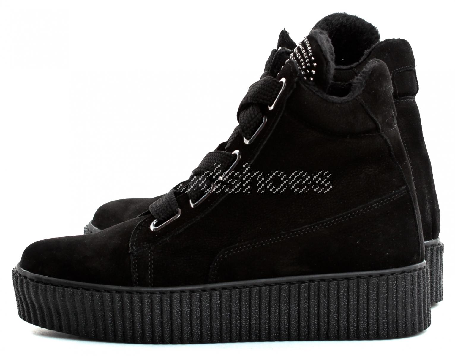 05657c44 Botki Damskie Venezia Czarne Skórzane 211112 BLACK - Goodshoes.pl