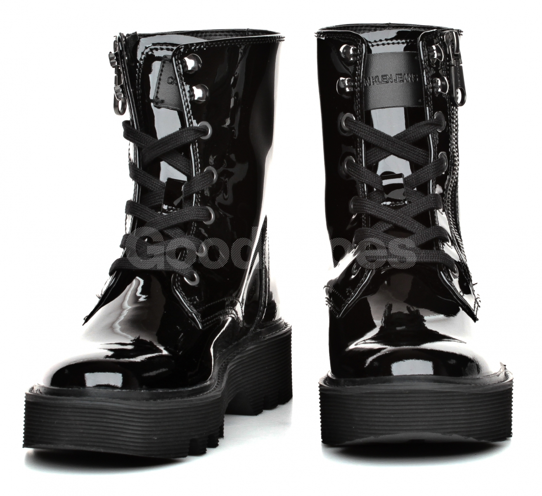 Tanie Calvin Klein Jeans Czarne Botki Damskie Outlet, Obuwie