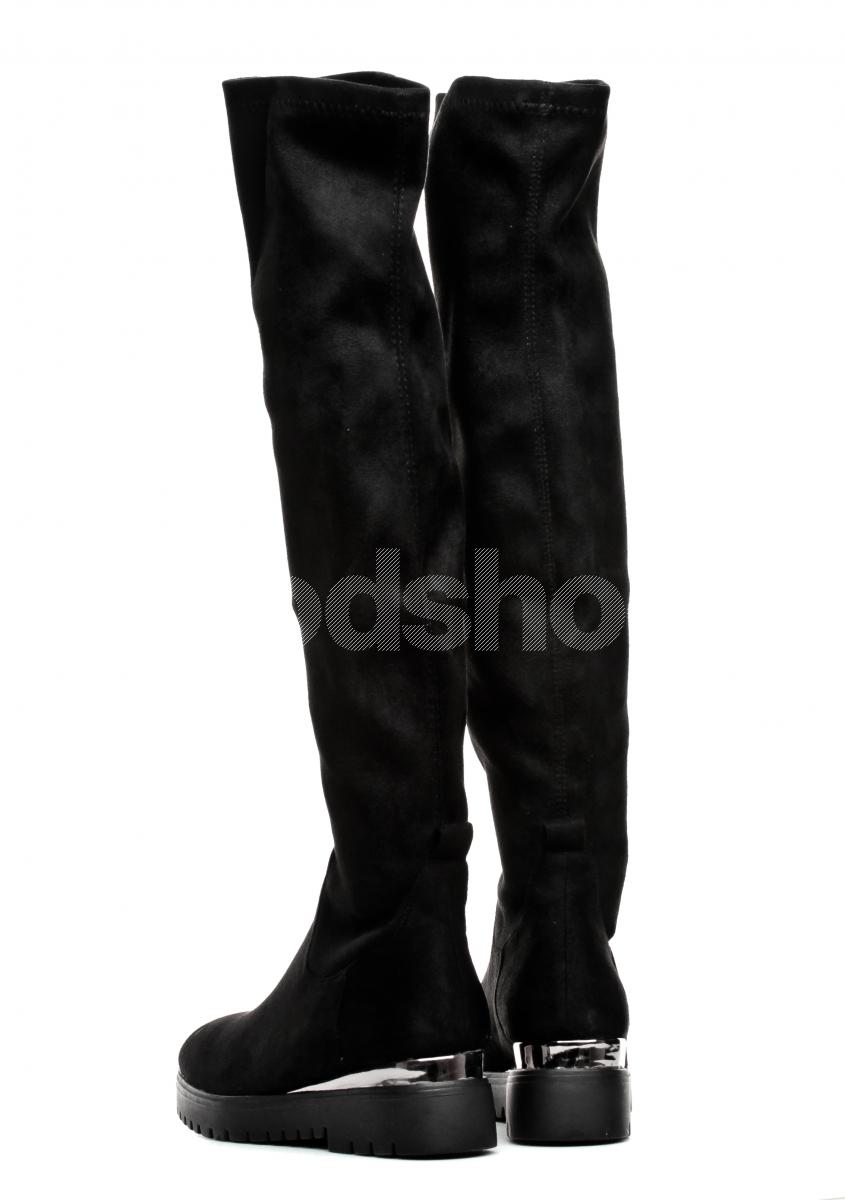 2cd8e702d3659 Kozaki Damskie Venezia Czarne B1795151 BLAC - Goodshoes.pl