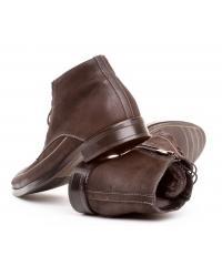 Men's brown nubuck boots