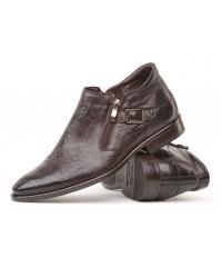 Man's dark brown goat leather