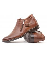Men's dark brown goat leather boots