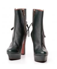 Giorgio Fabiani dark green leather boots
