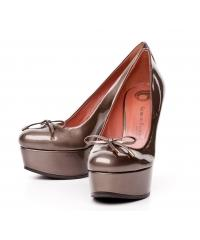 Giorgio Fabiani grey leather wedged  shoes