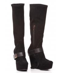 Giorgio Fabiani women's black suede boots