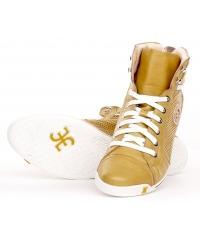 Sneakersy FABI Skórzane Musztardowe 14 FD9342