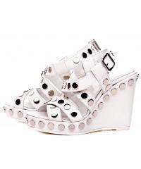 Sandały Damskie GEOX Skórzane Białe 20 C1000