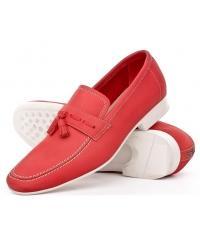 NORD men's red moccasins- unique