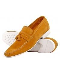 NORD men's yellow moccasins-unique