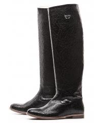 MEKA women's black leather boots LIMITED EDITION