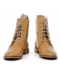 NORD women's golden leather laced boots LIMITED EDITION
