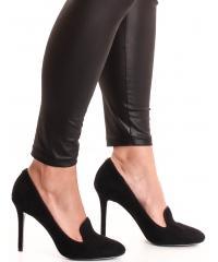 GUESS women's black suede pumps
