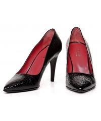 MEKA women's black leather pumps
