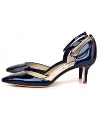 VENEZIA women's navy blue leather pumps