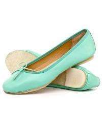 Clarks women's mint leather ballerinas