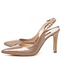 Venezia women's beige leather pumps