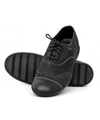 Półbuty Męskie NORD Kolekcja Doberman Czarne Skórzane w stylu Oksford 01 2271 V691