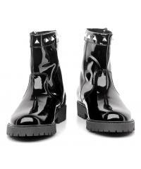 Botki Damskie Armani Jeans Czarne Lakier 30 Z5596 59 12 Black