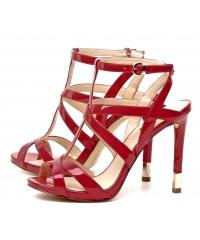 Sandały Damskie Na Szpilce GUESS Czerwone 22 CACIA FL2CIC PAT03 RED