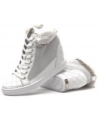 Sneakersy Damskie GUESS Białe Skórzane 22 FL4FUR SUE12