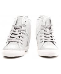 Sneakersy Damskie GUESS Srebrne Błyszczące JILLY 22 FLJIL3 FAM12 SILVE
